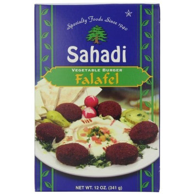 Sahadi Falafel, Vegetable Burger, 12-Ounce Boxes (Pack of 6)