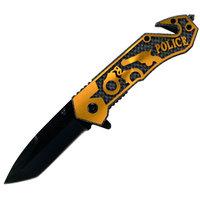 Whetstone Golden Police Folding Pocket Rescue Knife, 7.75