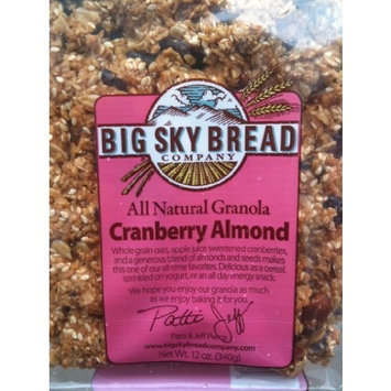 Big Sky Granola Cranberry Almond, 12-Ounce Pouches (Pack of 6)