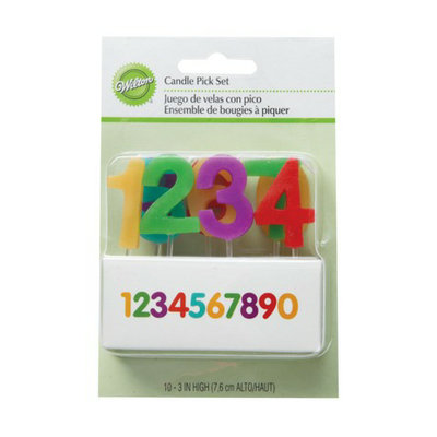 Wilton Numbers Candle Pick Set - 10 ct.