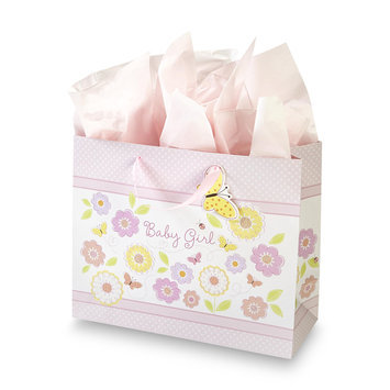 C.r. Gibson Company C.R. GIBSON COMPANY Gift Bag & Tissue Paper Baby Girl - C.R. GIBSON COMPANY