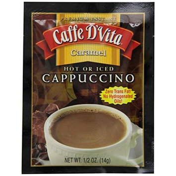 Caffe D'Vita Caramel Cappuccino Mix, 0.5-Ounce Envelopes (Pack of 24)