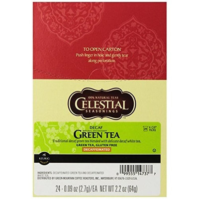 Celestial Seasonings® Celestial Seasonings Decaf Green Tea, K-Cup Portion Pack for Keurig K-Cup Brewers, 24-Count