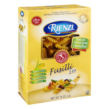 Rienzi Gluten Free Fusilli 139 Pasta