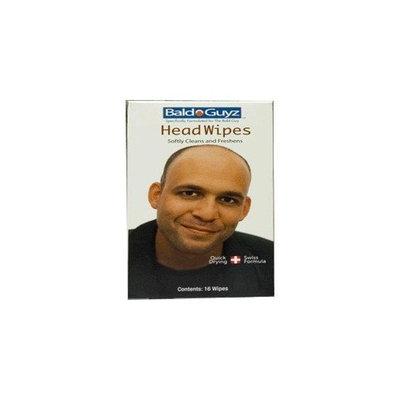 Bald Guyz Head Wipes, 16 Wipes