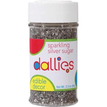 Xcell International Corp Dallies Sparkling Silver Sugar Edible Decor, 3.3 oz