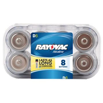 Rayovac Alkaline Value Pack D Batteries, 8-pack
