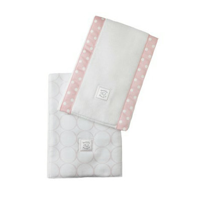 SwaddleDesigns Baby Burpies 2-pc. Set - Pink Mod Circles