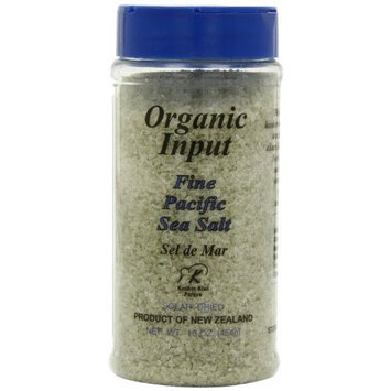 Pacific Salt Organic Fine Sea Salt, 16-Ounce Bottles (Pack of 6)