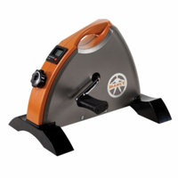 Marcy Deluxe Cardio Mini-Cycle, Silver Orange and Black, 1 ea