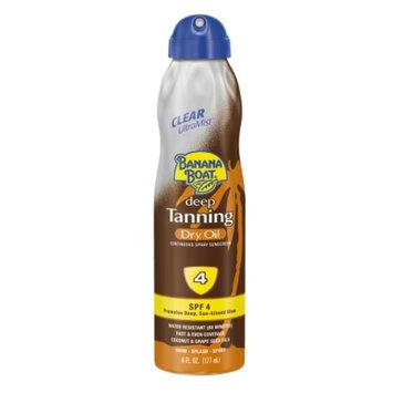 Banana Boat Deep Tanning Ultra Mist Dry Oil SPF 4