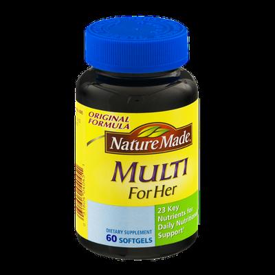 Nature Made Multi For Her Dietary Softgels Original Formula - 60 CT