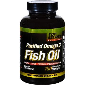 Top Secret Nutrition - Fish Oil Purified Omega 3 Lemon Flavor - 100 Softgels