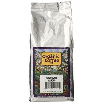 The Organic Coffee Company The Organic Coffee Co. Whole Bean, Chocolate Almond, 32 Ounce