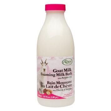 Alpen Secrets Goat Milk Foaming Milk Bath with Argan Oil, Argan, 28.7 fl