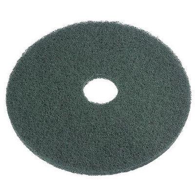 TOUGH GUY 6XZY4 Scrubbing Pad,17 In, Green, PK5