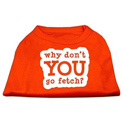 Ahi You Go Fetch Screen Print Shirt Orange Sm (10)