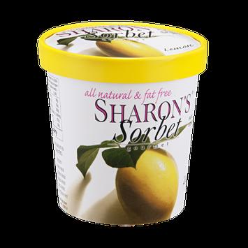 Sharon's Gourmet Sorbet Lemon All Natural & Fat Free