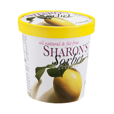 Sharon's Gourmet Sorbet Lemon All Natural & Fat Free