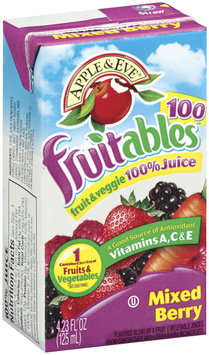 Apple & Eve® Fruitables™ 100 Mixed Berry Fruit & Veggie Juice 4.23 fl. oz. Aseptic Pack