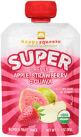 Happy Squeeze® Organic Super Apple, Strawberry & Guava Blended Fruit Snack 3.17 oz. Pouch