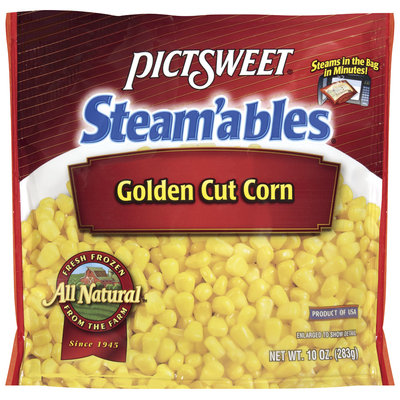 STEAM'ABLES ALL NATURAL Golden Cut Corn 10 OZ STAND UP BAG