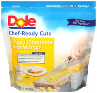 Dole® Chef-Ready Cuts Diced Pineapple and Mango 14 oz. Bag