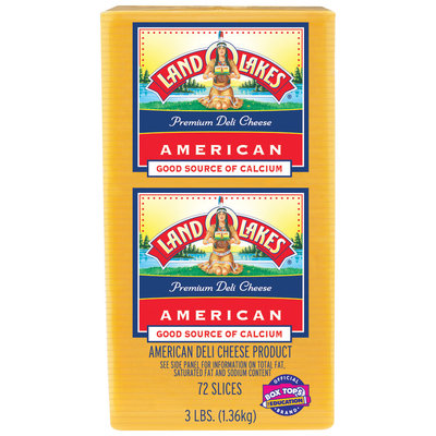 Land O'Lakes® Premium American Slices Yellow Cheese 3 Lb Stack Pk