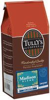 Tully's Coffee Balanced Ground Medium Roast Madison Blend 12 Oz Stand Up Bag