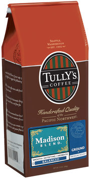 Tully's Coffee Balanced Ground Medium Roast Madison Blend 12 Oz Stand Up Bag