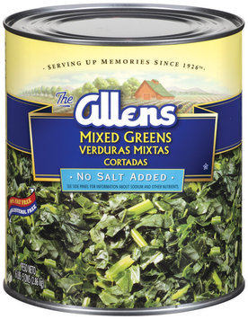Allens No Salt Added Mixed Greens 101 Oz Can