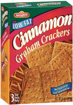 Springfield Cinnamon Low Fat   Graham Crackers 13 Oz Box