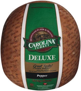 Carolina Turkey Pepper Deluxe Lower Sodium Turkey Breast
