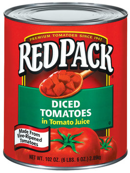 RedPack Diced In Tomato Juice Tomatoes 102 Oz Can
