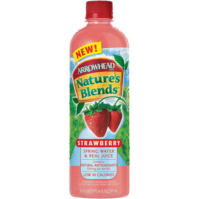 Arrowhead Nature's Blends Spring Water & Real Juice Strawberry 20 fl. oz. Plastic Bottle