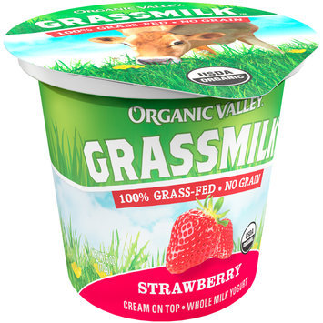Organic Valley® Grassmilk™ Organic Strawberry Whole Milk Yogurt Cup