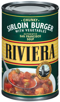 Riviera Chunky Sirloin Burger W/Vegetables Soup 15 Oz Can