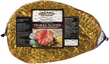 Organic Prairie Organic Spiral Sliced Hardwood Smoked Ham