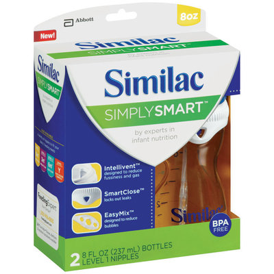 Similac Simply Smart™ 8 fl. oz. Bottle 2 ct Package