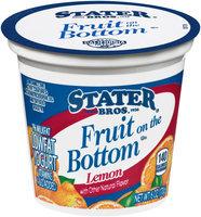 Stater Bros.® Fruit on the Bottom Low Fat Lemon Yogurt 6 oz. Cup