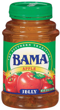 Bama Spreads Apple, Modified 6/2/07 Jelly 32 Oz Plastic Jar