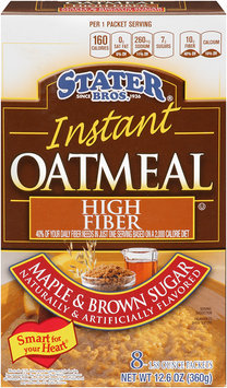 Stater Bros.® Maple & Brown Sugar Instant Oatmeal 8-1.58 oz.