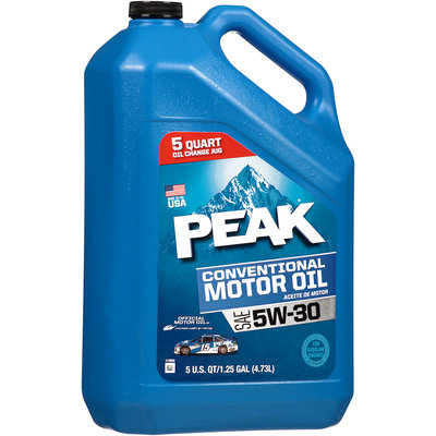 Peak® SAE 5W-30 Conventional Motor Oil 5 qt. Jug