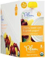 Plum Organics® Stage 2 Cherry, Sweet Corn & Greek Yogurt Organic Baby Food 6-3.5 oz. Pouches