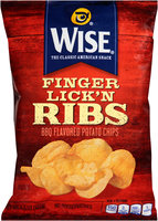 Wise Finger Lick'n Ribs BBQ Potato Chips