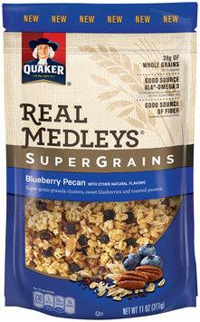 Quaker® Real Medleys® SuperGrains Blueberry Pecan Granola Cereal 11 oz Pouch