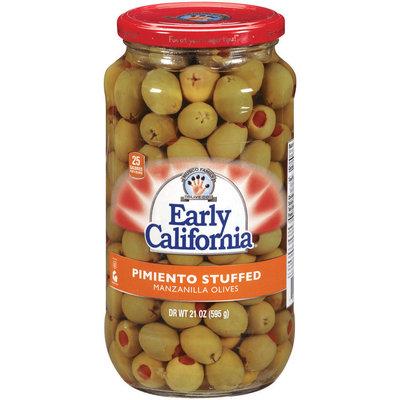 EARLY CALIFORNIA Pimiento Stuffed Manzanilla Olives 21 OZ GLASS BOTTLE
