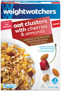 Weight Watchers Oat Clusters with Cherries & Almonds Cereal 14 oz. Box