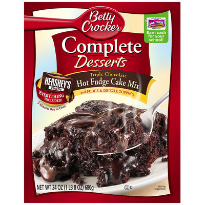Betty Crocker® Complete Desserts® Triple Chocolate Hot Fudge Cake Mix 24 oz. Box