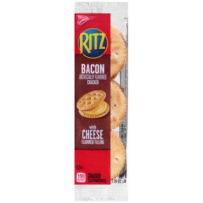 Nabisco RITZ Bacon Crackers with Cheese Filling Cracker Sandwiches